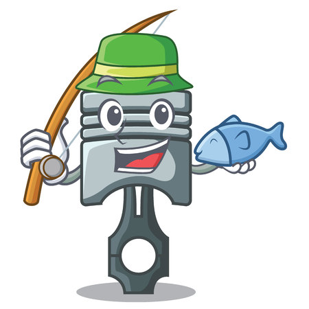 Fishing piston isolated in the cartoon shape vector ilustration 矢量图像