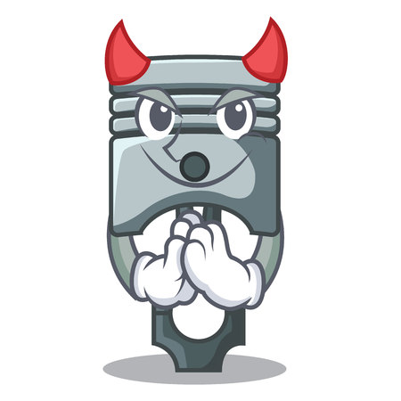 Devil piston isolated in the cartoon shape vector ilustration Illustration