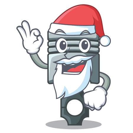 Santa miniature piston in the cartoon shape vector illustration Фото со стока - 124886935