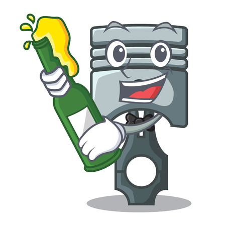 With beer miniature piston in the cartoon shape vector illustration Фото со стока - 124886937
