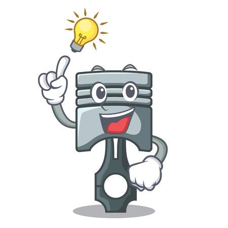 Have an idea miniature piston in the cartoon shape vector illustration Иллюстрация