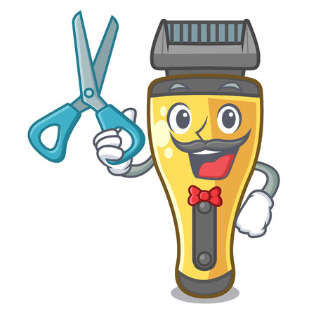 Barber electric shaver in the a character vector illustration
