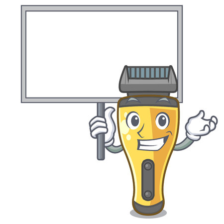 Bring board electric shaver in the a character vector illustration