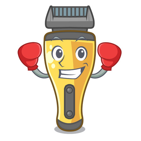 Boxing electric shaver in the a character vector illustration