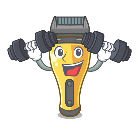Fitness electric shaver in the a character vector illustration