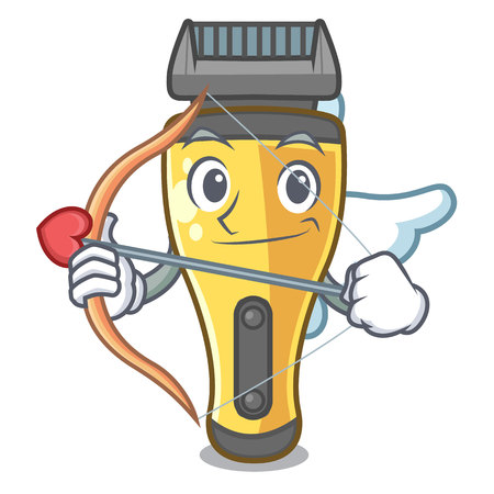 Cupid electric shaver in the a character vector illustration