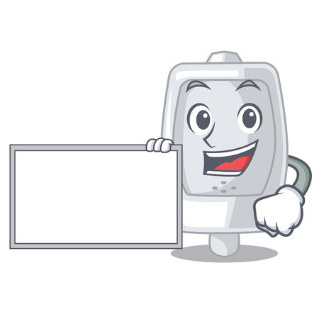 With board urinal isolated with in the mascot vector illustration 일러스트