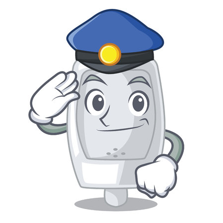 Police urinal isolated with in the mascot vector illustration Illustration