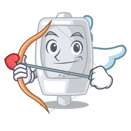 Cupid urinal isolated with in the mascot vector illustration