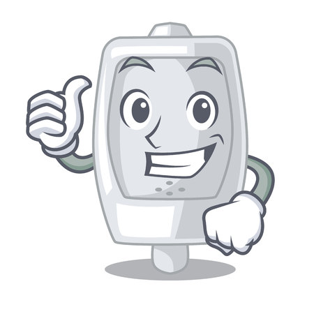Thumbs up urinal in the a cartoon shape vector illustration Ilustrace