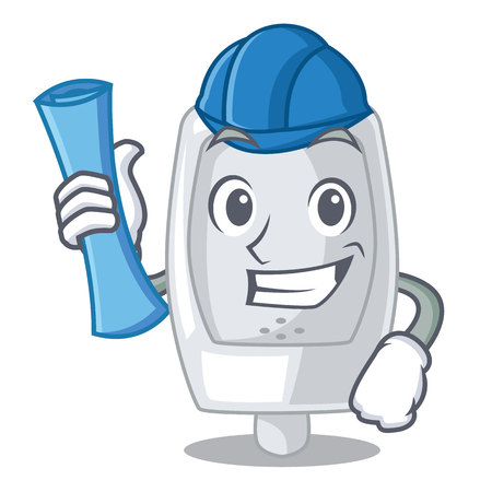 Architect urinal in the a cartoon shape Illustration