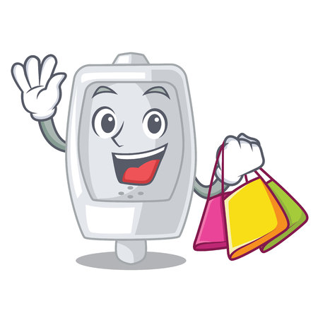 Shopping urinal in the a cartoon shape vector illustration