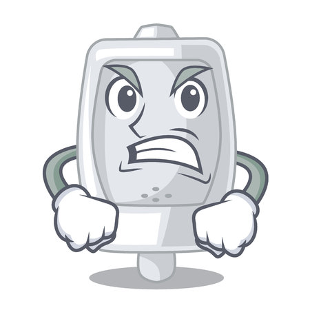 Angry urinal in the a cartoon bathroom vector illustration Ilustrace