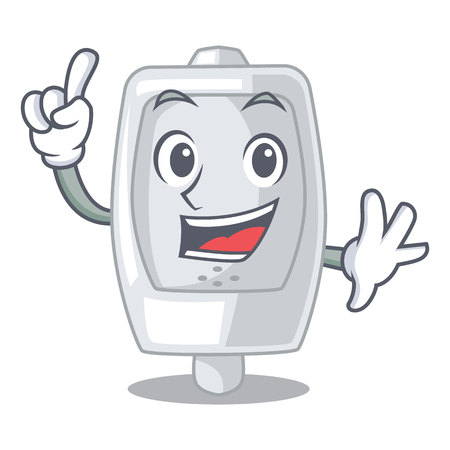 Finger interior urinal in the a character vector illustration