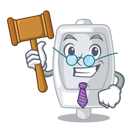 Judge interior urinal in the a character vector illustration