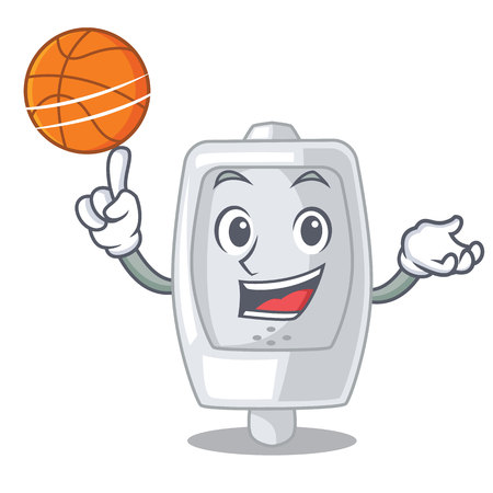 With basketball urinal isolated with in the mascot vector illustration  イラスト・ベクター素材