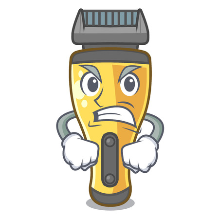 Angry electric shaver isolated with in mascot vector illustration