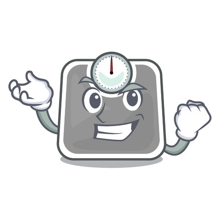 Successful weghit cartoon scale the health room vector illustration Illustration