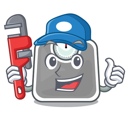 Plumber weight scala isolated with in cartoons vector illustration