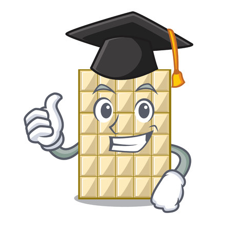 Graduation white chocolate on a cartoon plate vector illustration 写真素材 - 124849788