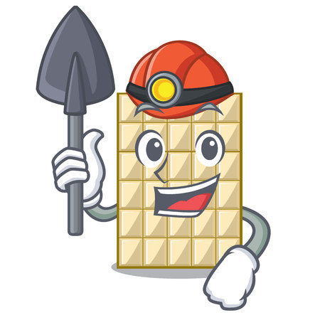 Miner white chocolate on mascot wood table