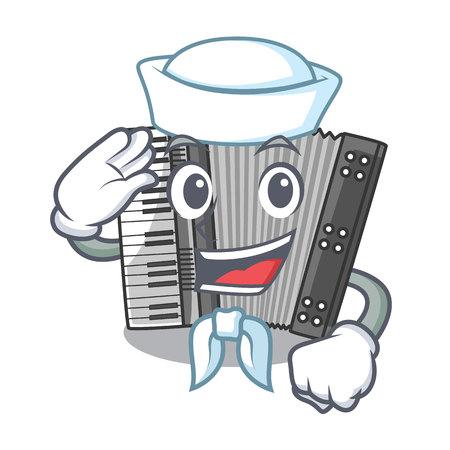 Sailor according cartoons in the music room vector illustration 矢量图像