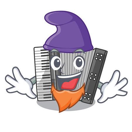 Elf according cartoons in the music room vector illustration 矢量图像