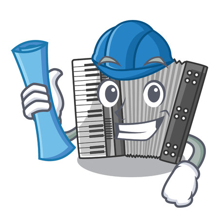 Architect according in the shape character wood vector illustration