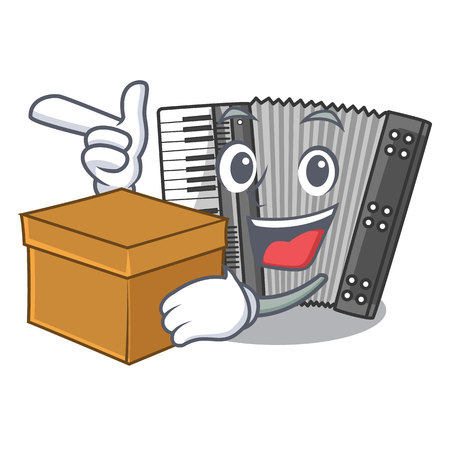 With box according in the shape character wood vector illustration Standard-Bild - 124849867