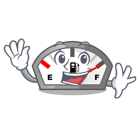 Waving gasoline indicator isolated with in cartoon vector illustration Illustration