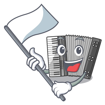 With flag accordion isolated with in the character vector illustration