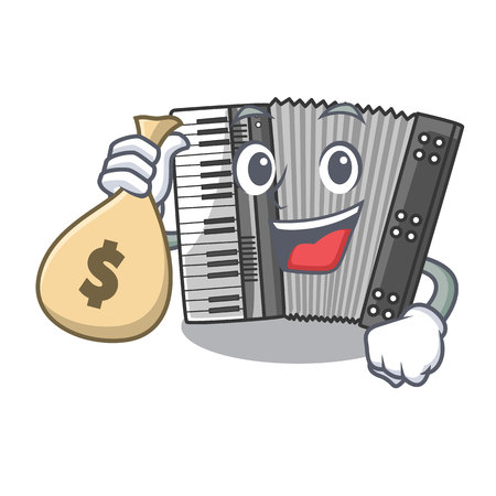 With money bag according cartoons in the music room vector illustration