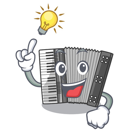 Have an idea accordion isolated with in the character vector illustration