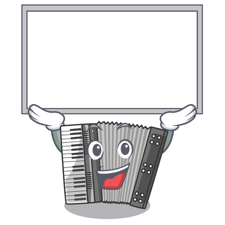 Up board according cartoons in the music room vector illustration