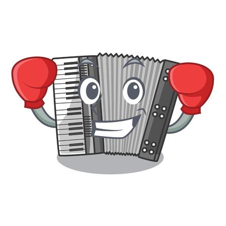 Boxen nach Cartoons in der Musikzimmer-Vektorillustration