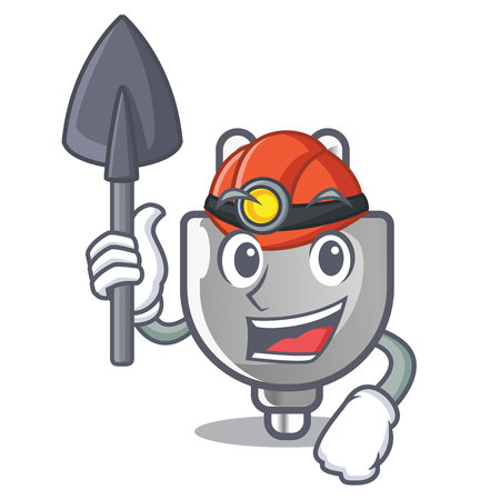 Miner isolated power plug in the mascot vector illustration  イラスト・ベクター素材