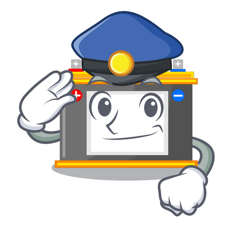 Police accomulator in the a character shape vector illustration Illustration