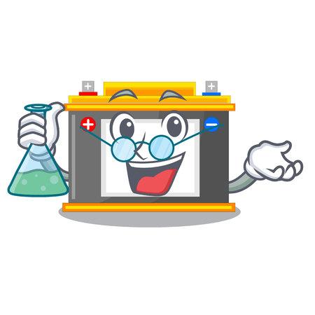 Professor accomulator the mascot next to table vector illustration Ilustração
