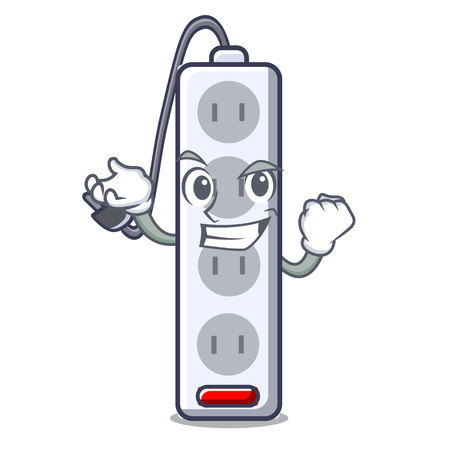 Successful power strip attaches the cartoon table vector illustration Ilustração