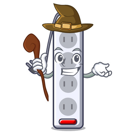 Witch isolated power strip with the mascot vector illustration Imagens - 124817810
