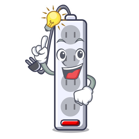 Have an idea isolated power strip with the mascot vector illustration