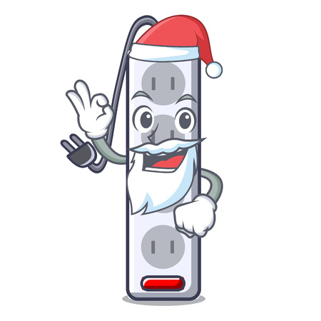 Santa isolated power strip with the mascot vector illustration