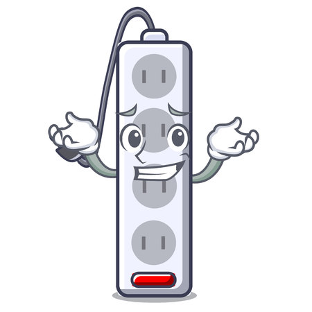 Grinning power strip attaches the cartoon table vector illustration Ilustração