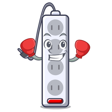 Boxing power strip in the character shape vector illustration  イラスト・ベクター素材