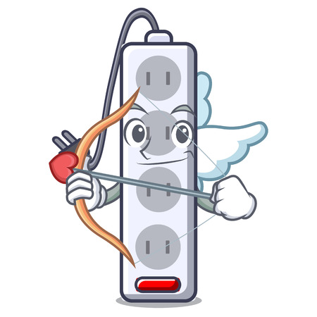 Cupid power strip in the character shape vector illustration  イラスト・ベクター素材