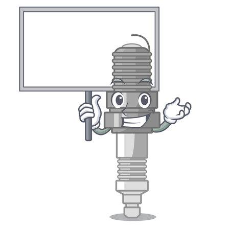 Bring board spark plug in the character shape vector illustration Векторная Иллюстрация