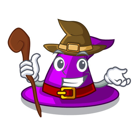 Witch witch hat isolated with the mascot vector illustration