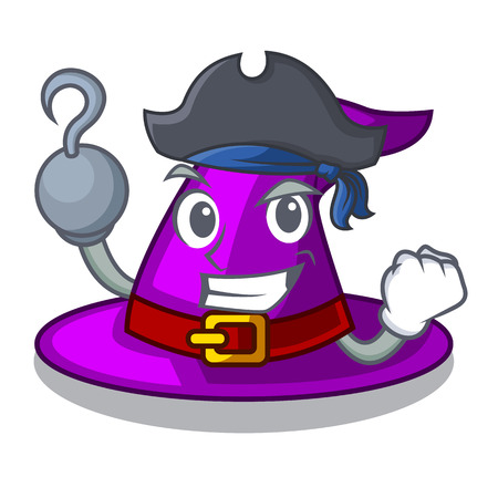 Pirate with hat in the shape mascot