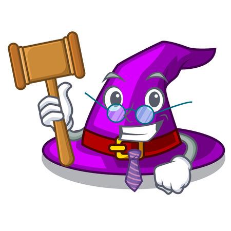 Judge witch hats in shape beautiful cartoons vector illustration Иллюстрация