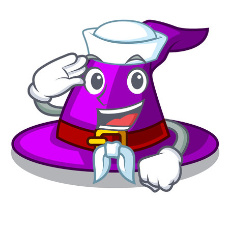 Sailor with hat in the shape mascot vector illustration Imagens - 124796983
